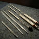 Mały zbiór termometrów i areometrów do badań laboratoryjnych...