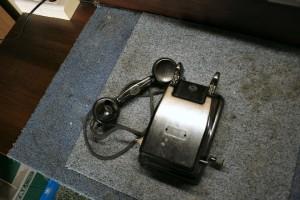 Ebonitowy telefon naścienny RWT z induktorem...